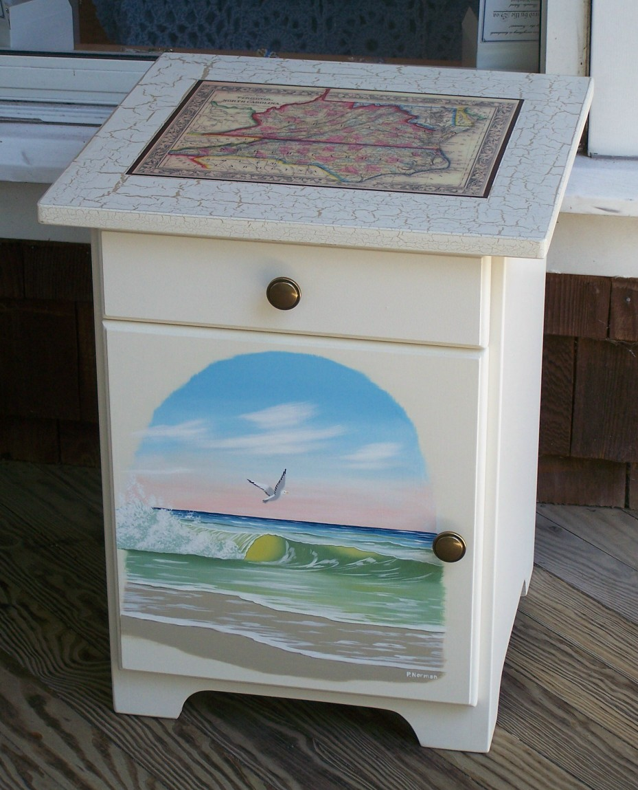 Captivating Hand Painted Furniture, Lighthouse, Nautical And Country, Scenes ...